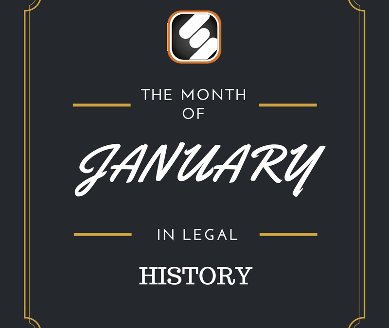 This Month In US Legal History: January Edition